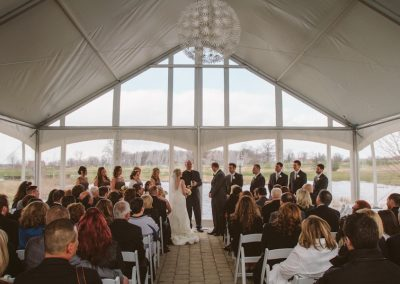 Covered Ceremony Tent Rental - Piper's Heath Golf Club